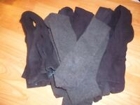 7 pairs of girls tights black/grey Age 7-8