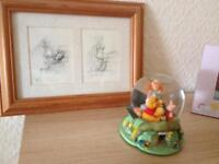 Winnie the Pooh globe and picture