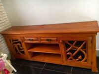 solid wood sideboard very large 82ins long hand carved