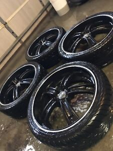 "^** 20"" OZ RACING RIMS WITH TIRES!!! MURDERED OUT BLACK"