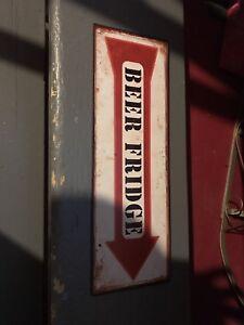 Metal Beer Fridge Sign