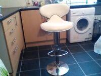Lovely white stool.
