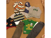 A bundle of boys 2-3 year old clothes