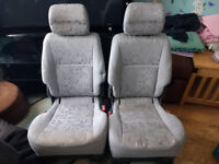Toyota Previa Seat Seats Grey Cloth with ISOFIX Points Middle or Back Row