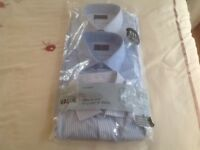3 M & S slim fit shirts size 17.5 collar.