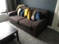 2/3 seater Grey DFS couch