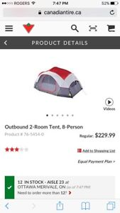 Outbound 2 room 8 person tent