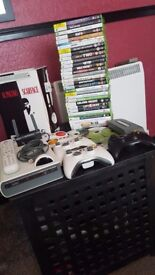 Massive xbox 360 bundle 32 games 3 pads external hd drive with remote