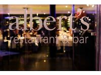 Chef de Partie required at Albert's Restaurant and Bar, Didsbury, Manchester