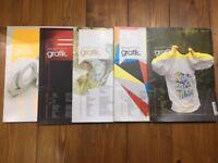 Collection of x5 Grafik - design magazines
