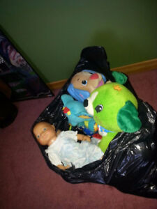 GARBAGE BAG FULL OF TOYS INCLUDES BATTERIES