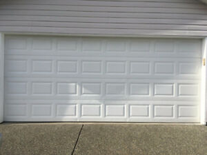 Steel Garage door and motor