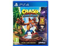 Crash bandicoot N.Sane Trilogy PS4 NEW £35 quick sale