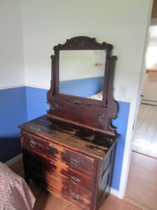Antique Dressor with mirror