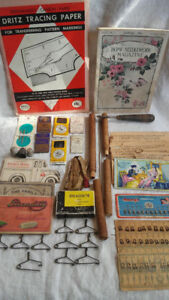 Sewing Notions, Vintage, Antique, various