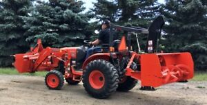 2014 Kubota B2650 with attachments