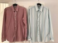 2 x men's long sleeved Ted Baker shirts - size 5 (£5 each)