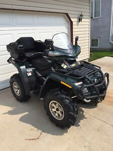 2007 Can Am Outlander 650 XT Quad with Snow Blade