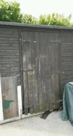 Free gerden shed for fire wood