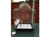 CHROME BIRD CAGE. IDEAL FOR A COCKATIEL ETC