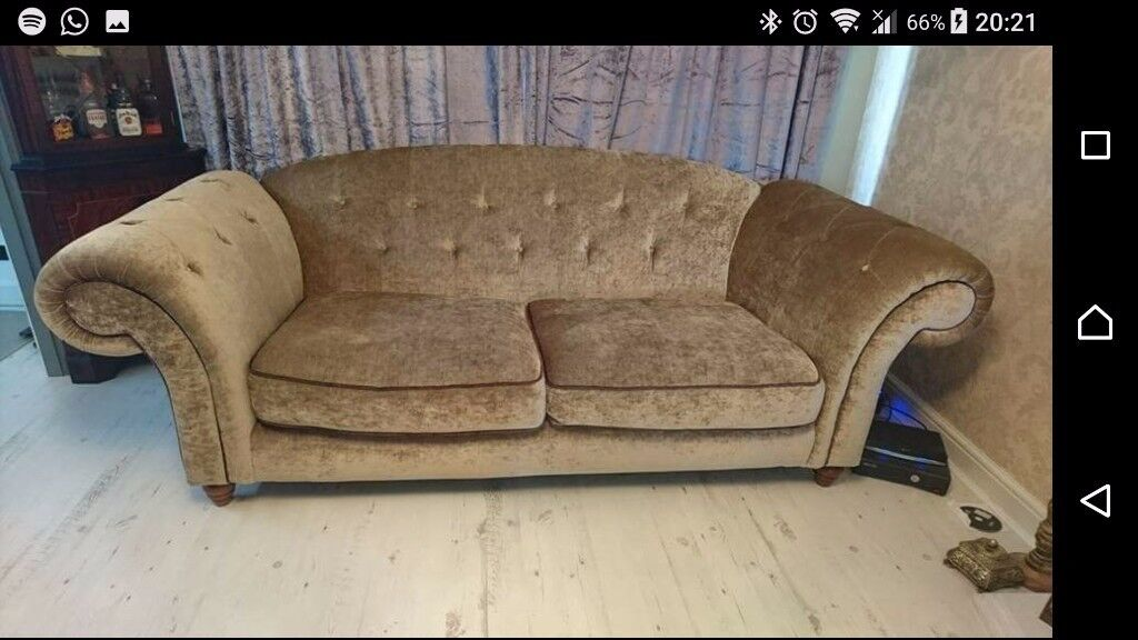Fabric chesterfield style sofa