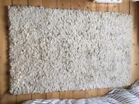 Cream thick John Lewis rug