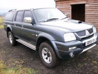 mitsubishi l200 4x4 trojan full leather 55 reg 61860 miles in excellent condition in side and out