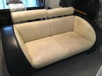 Art Deco style leather sofa