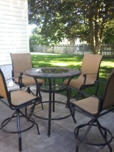 5 PIECE BAR HEIGHT PATIO SET