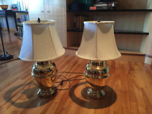 Two Night Stand/End Table Lamps