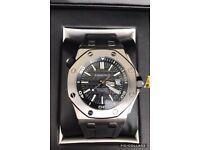 Royal Oak Offshore Diver Black Dial Black Rubber Men's Watch brand new in wood box