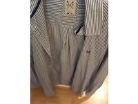 Crew Clothing Striped Shirt - blue & white