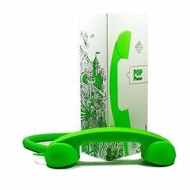 Pop Phone Handset Neon Green