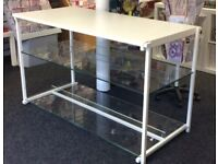 White metal & glass shop display unit £50 - 2 available