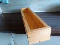 2x Handmade Wooden box planter