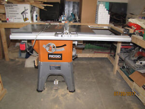 "Ridgid 13 amp. 10"" tablesaw model r4512"