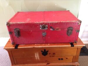 """Antique Trunk, 36"""" x 21"""" x 13"""". Good Coffee Table Size"""