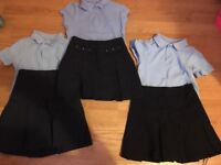 Navy skirts and blue polo shirts girls uinform age 3-4