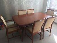 Cherrywood table plus 6 chairs