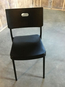 10 IKEA stackable chairs