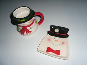 CHRISTMAS COFFER MUG AND CANDY DISH