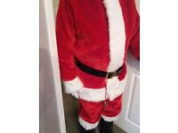 Santa Suit (adult) and accessories in beautiful red and white plush fabric BRAND NEW
