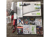 Wii console and Wii balance board bundle with Wii fit