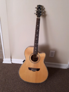 Highland Electric Acoustic Guitar With Hard Case