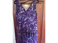 Silk dress - size 14