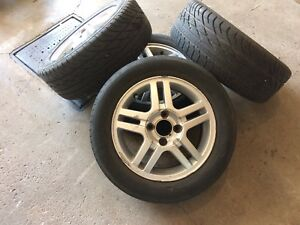4 summer tires with mag 195/60/15 (4x100)