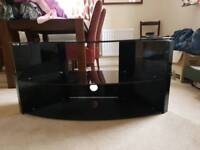 Black glass 3 Tier TV stand