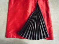 9 x 100% Black Silk Pleats for kick pleats for a dress or skirt NEW - LUXURY