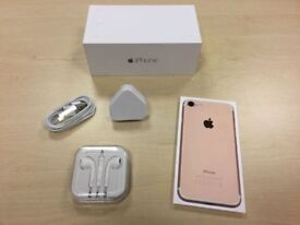Boxed Rose Gold Apple iPhone 7 32GB Factory Unlocked Mobile Phone + Warranty