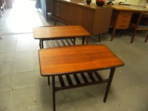 MID CENTURY FURNITURE ART POTTERY TEAK WALNUT